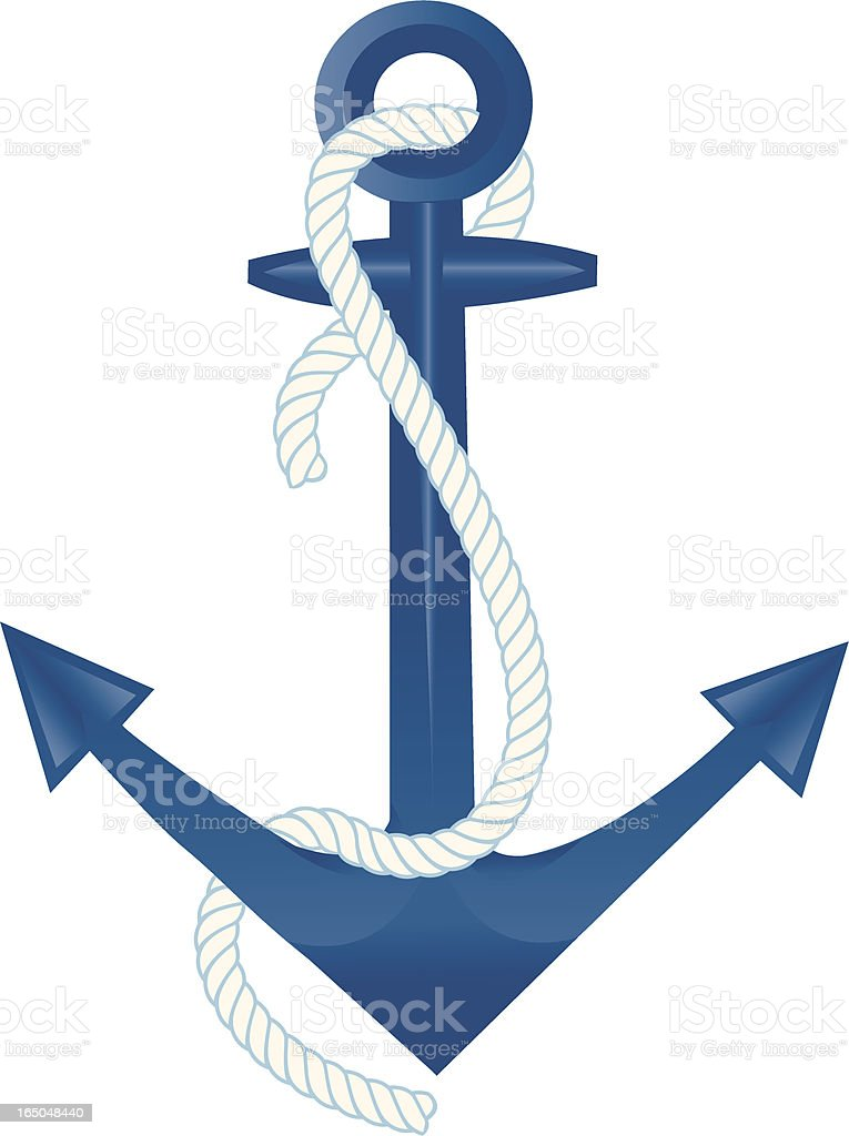 Anchor and Rope royalty-free stock vector art