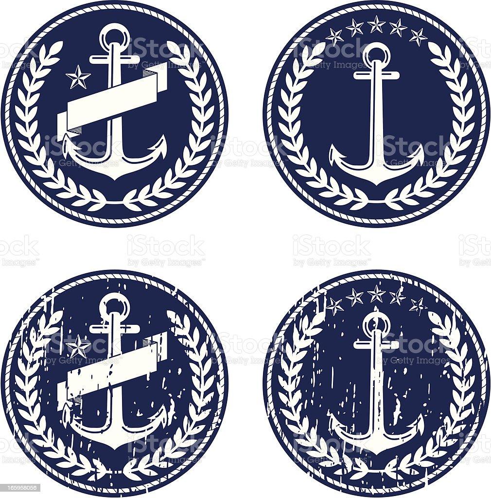 anchor emblems royalty-free stock vector art