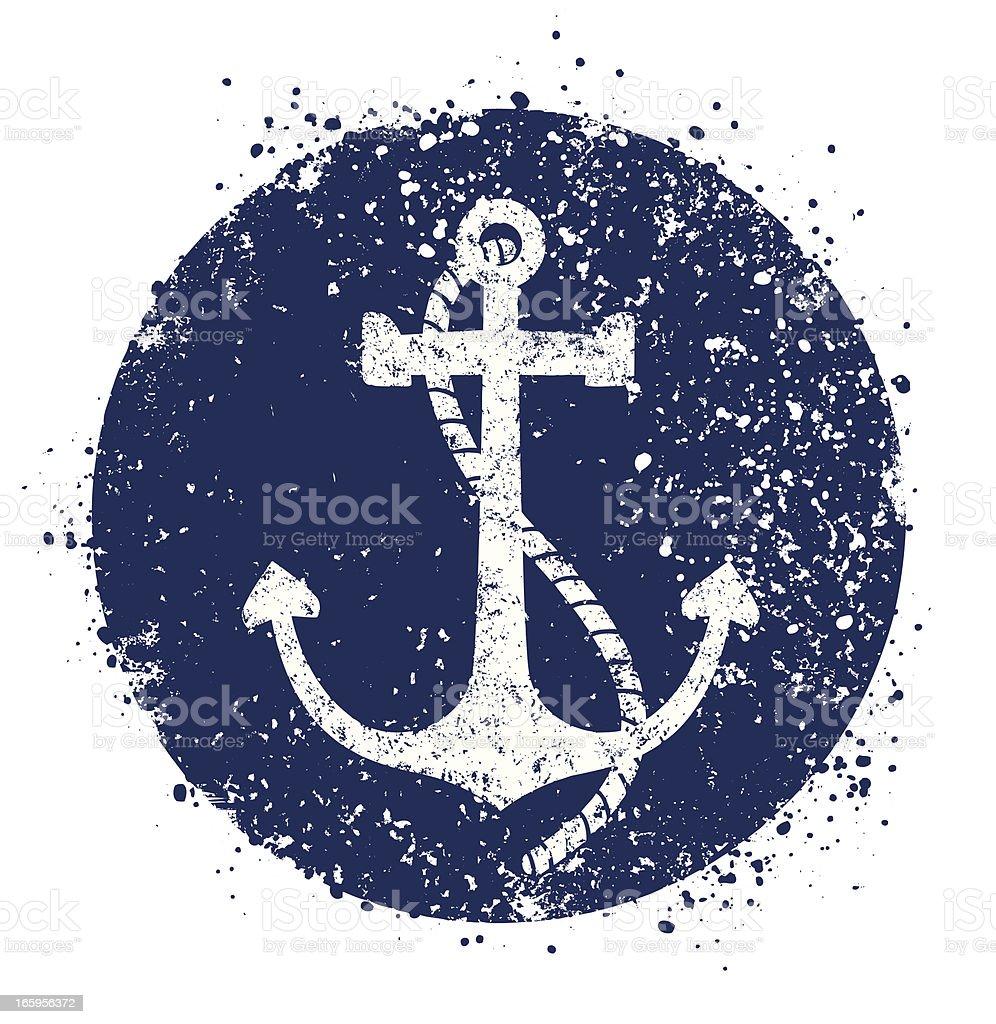 Anchor icon vector art illustration