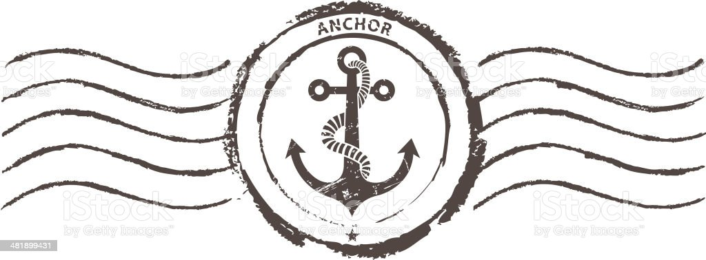 anchor rubber stamp royalty-free stock vector art