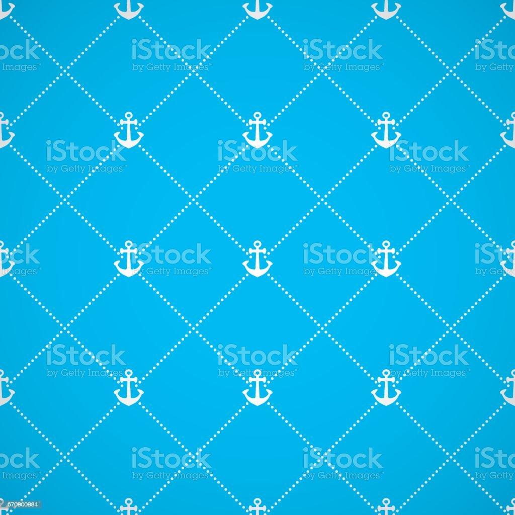 Anchor seamless background vector art illustration