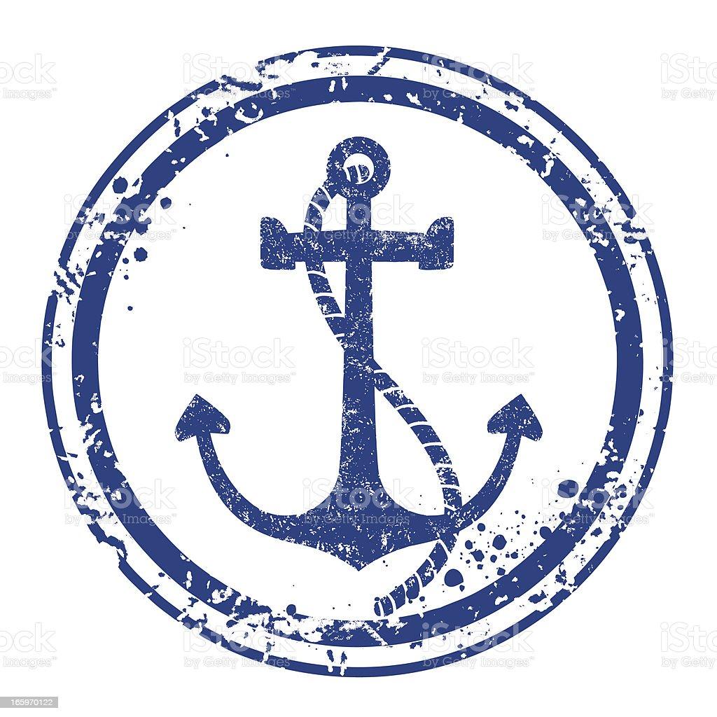 Anchor stamp vector art illustration