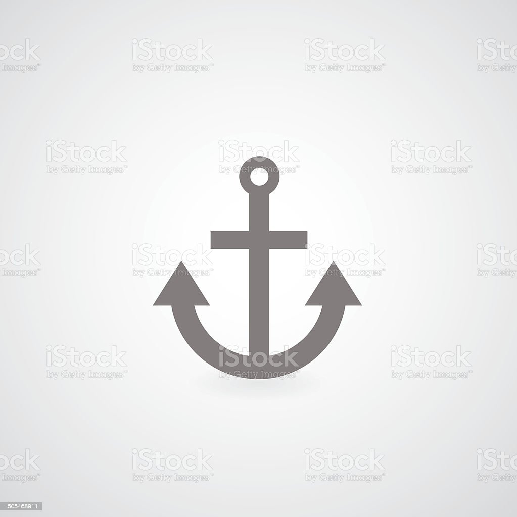 Anchor symbol vector art illustration