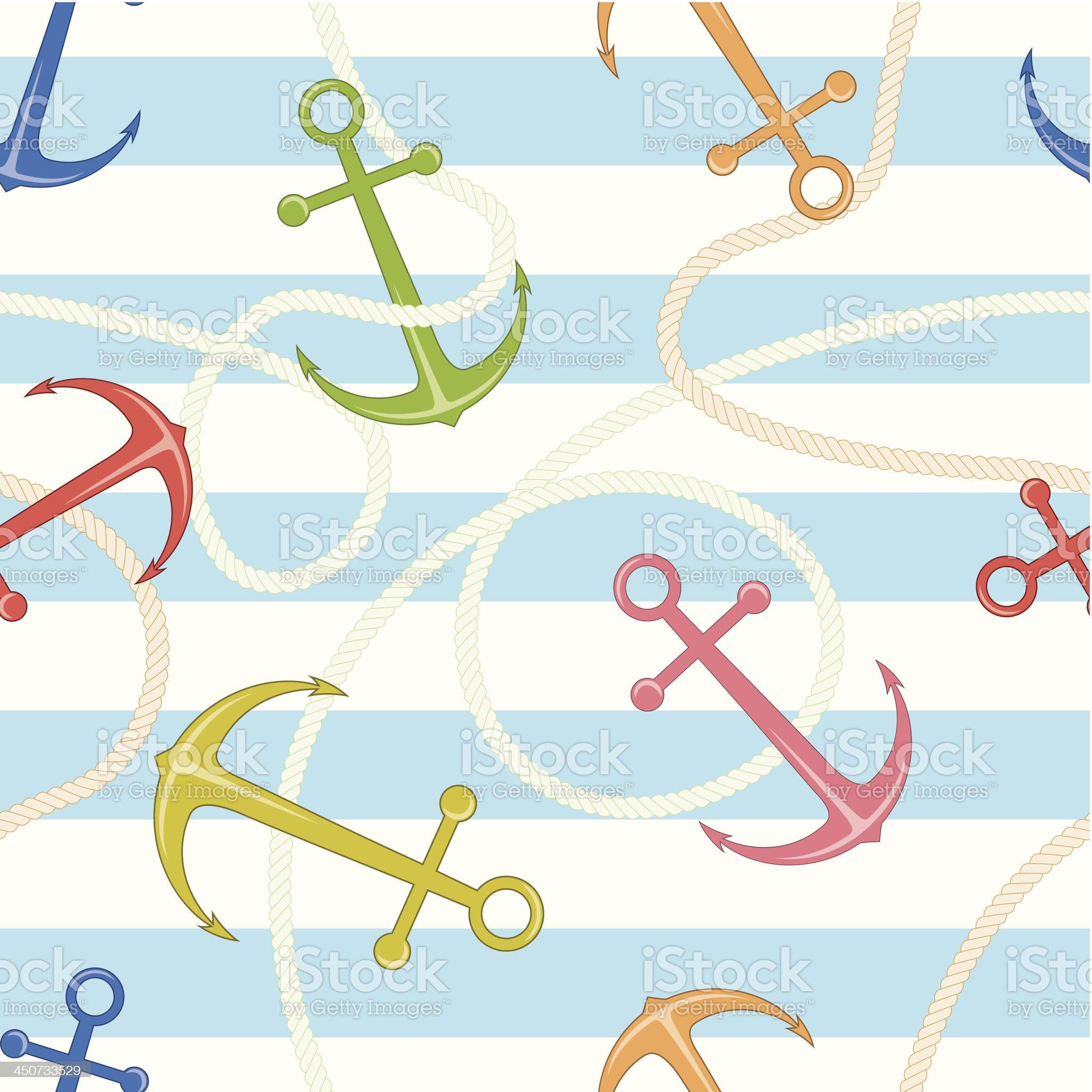 Anchors pattern royalty-free stock vector art