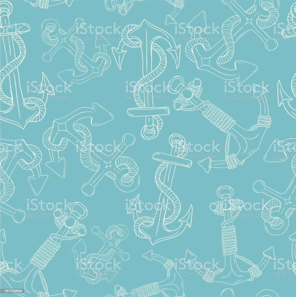 Anchors Seamless Pattern royalty-free stock vector art