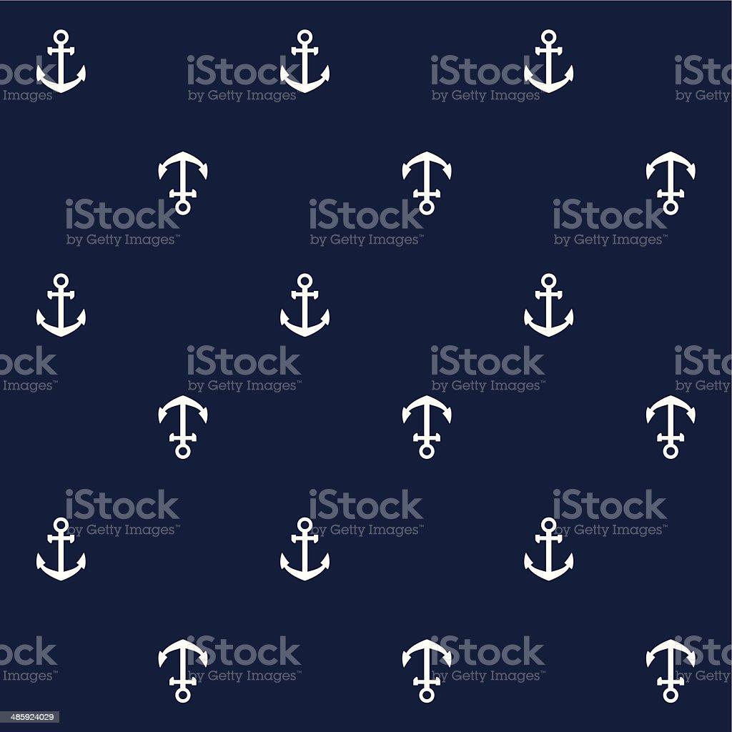 Anchors seamless pattern vector art illustration