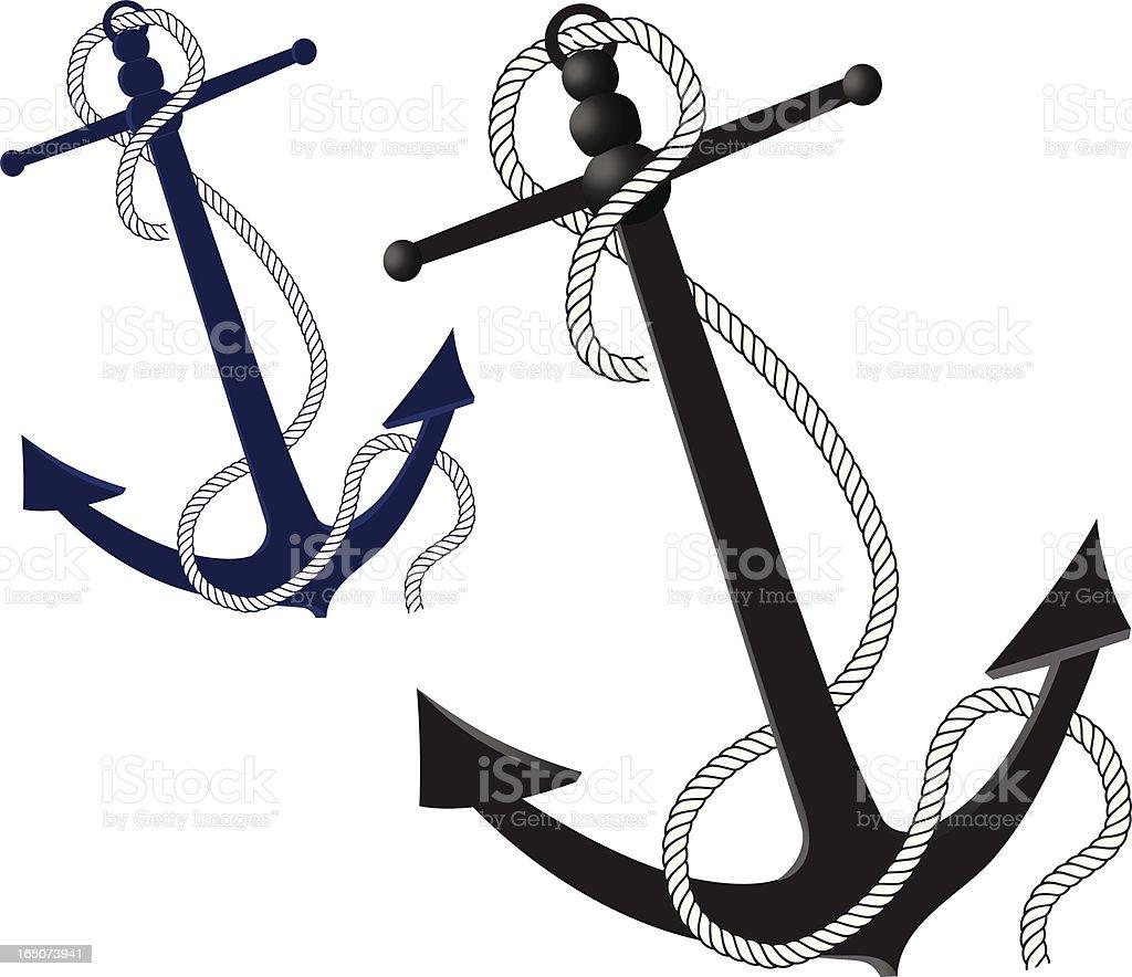 Anchors vector art illustration