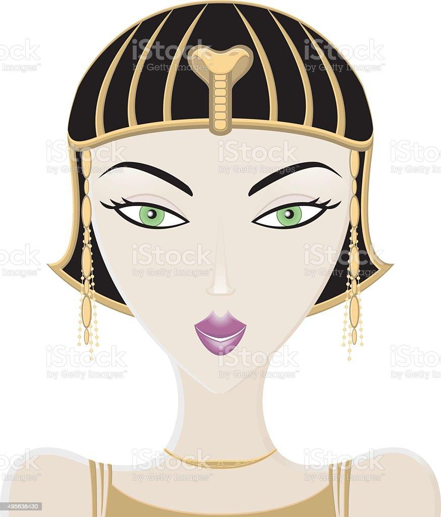 Ancien Egyptian style woman vector art illustration