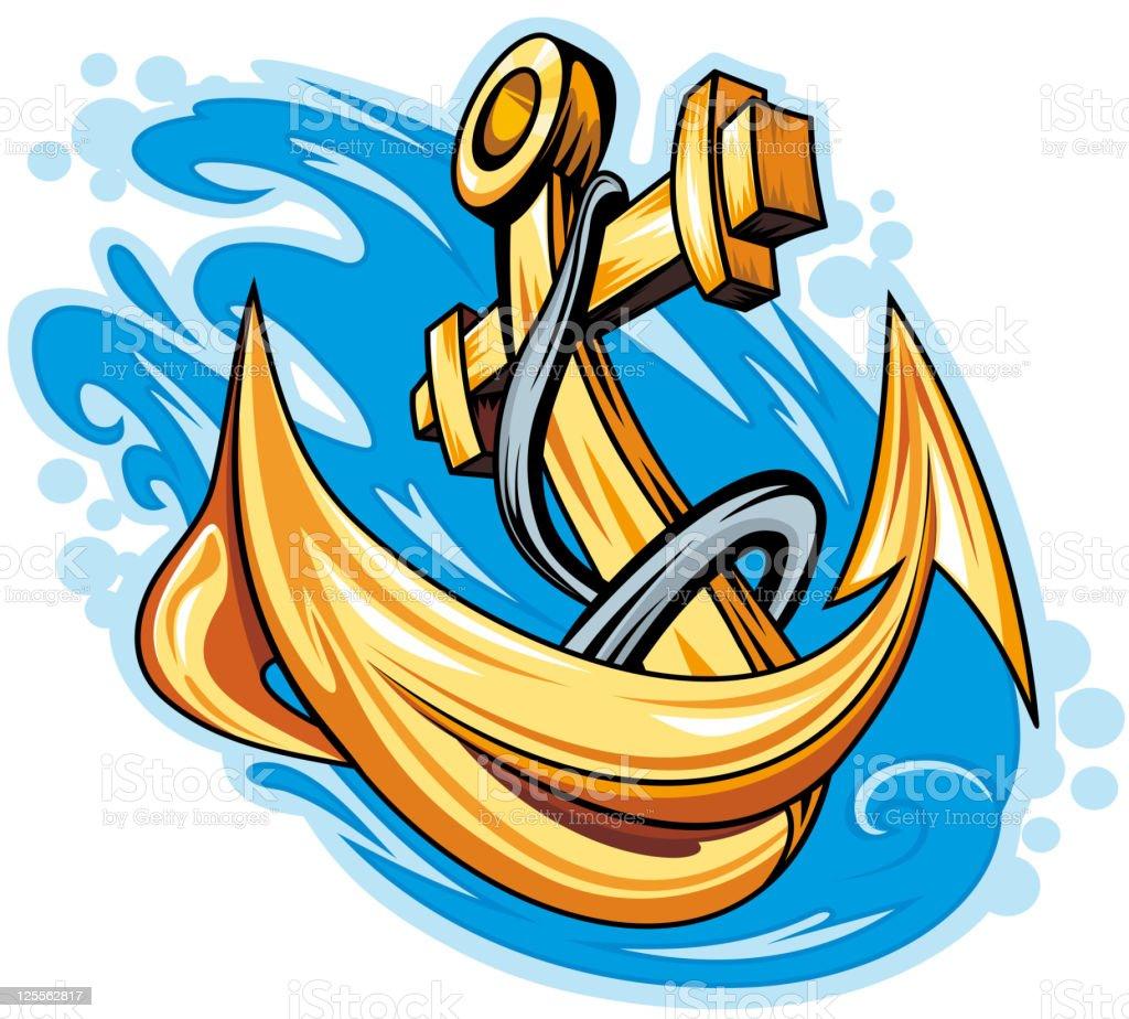 Ancient anchor royalty-free stock vector art