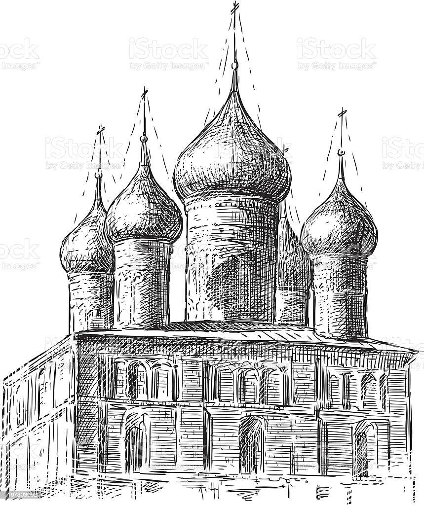Ancient church royalty-free stock vector art