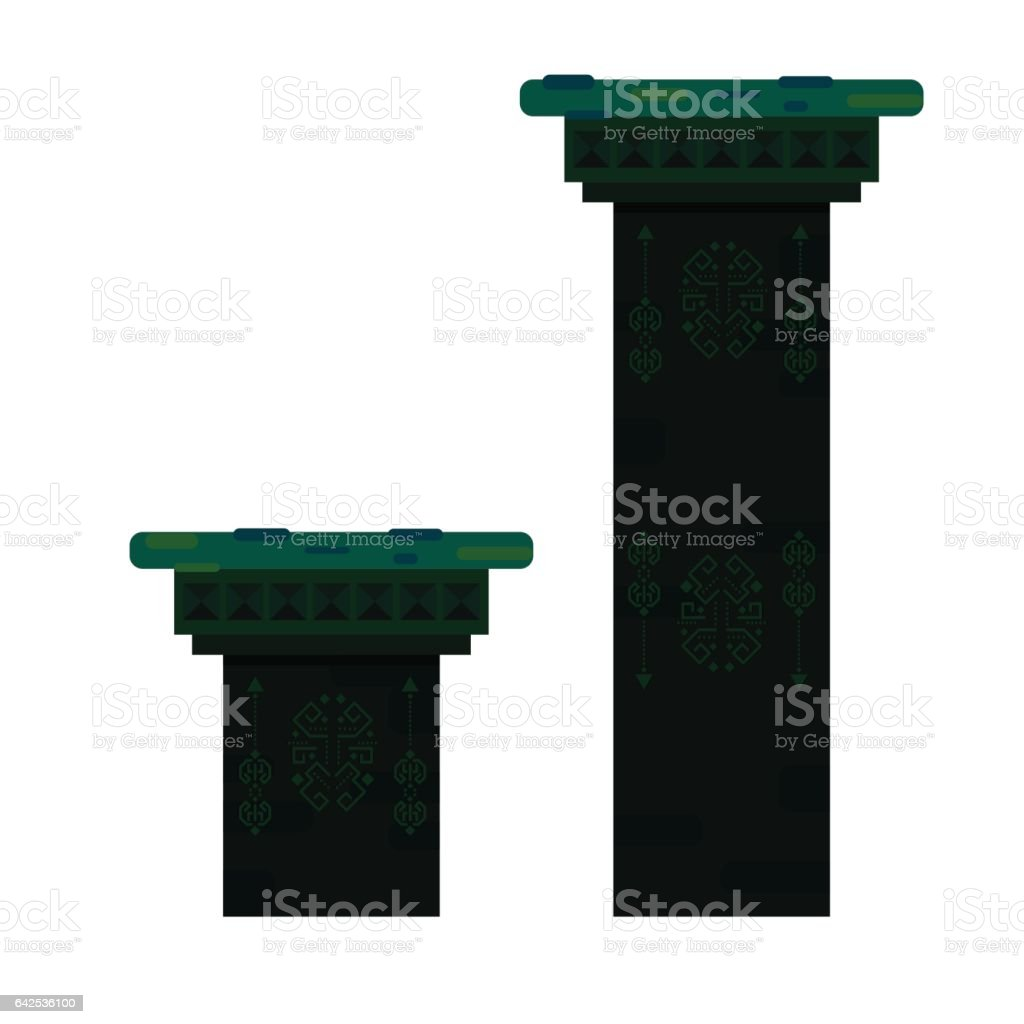Ancient columns isolated vector illustration vector art illustration