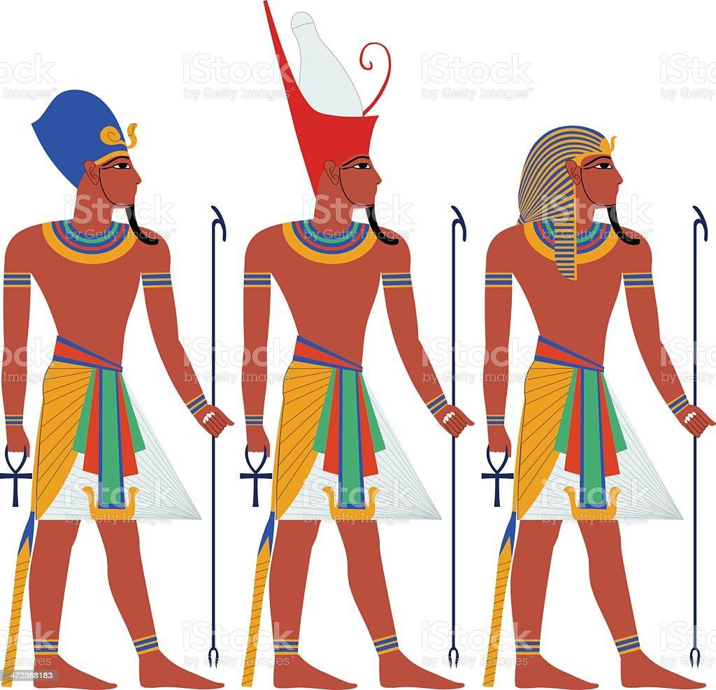 Ancient Egypt Pharaoh Pack For Passover vector art illustration