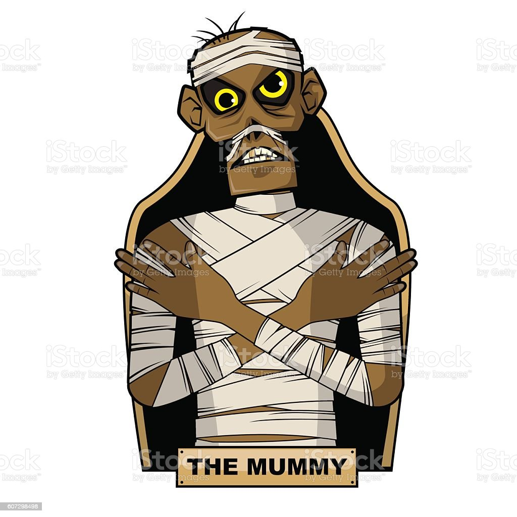 Ancient Egyptian Mummy vector art illustration