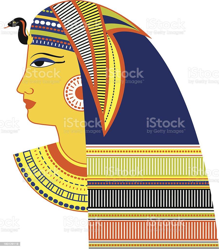Ancient Egyptian Pharaoh head royalty-free stock vector art