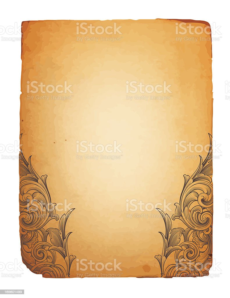 Ancient Footer royalty-free stock vector art