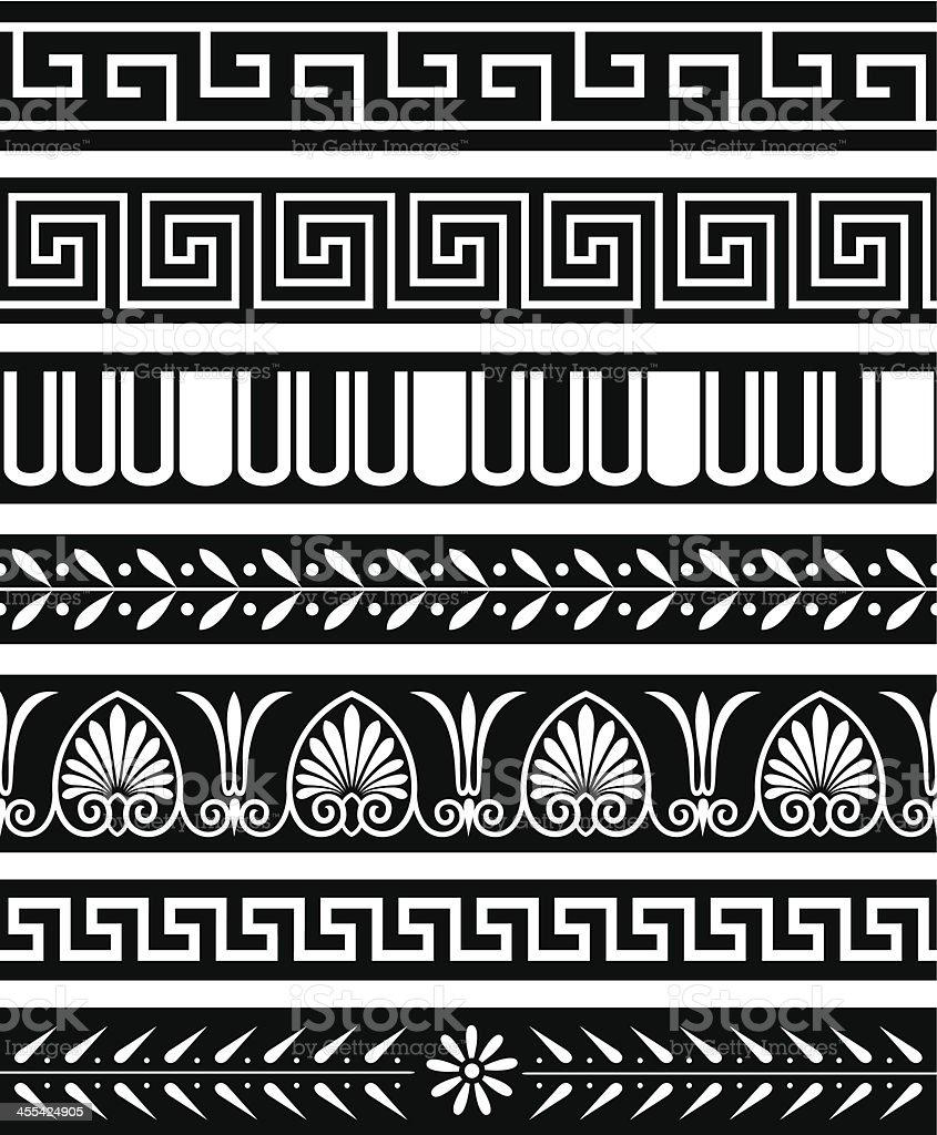 Ancient Greece Patterns vector art illustration
