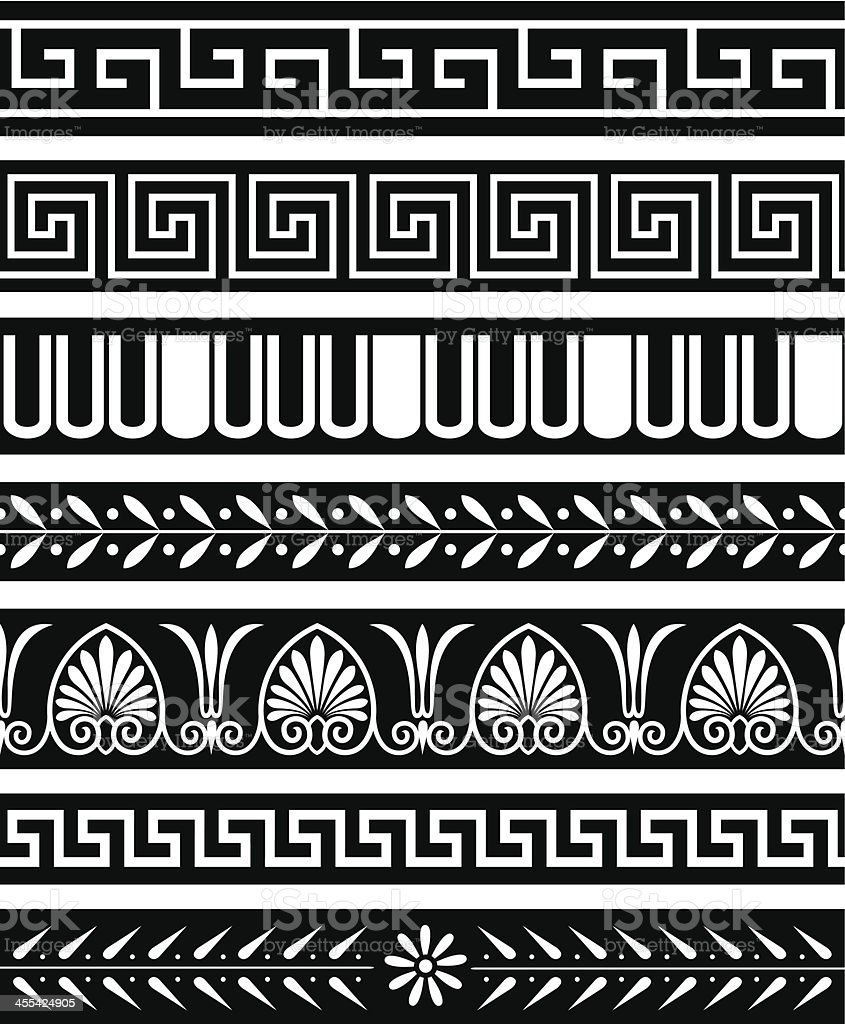 Ancient Greece Patterns vector art illustration