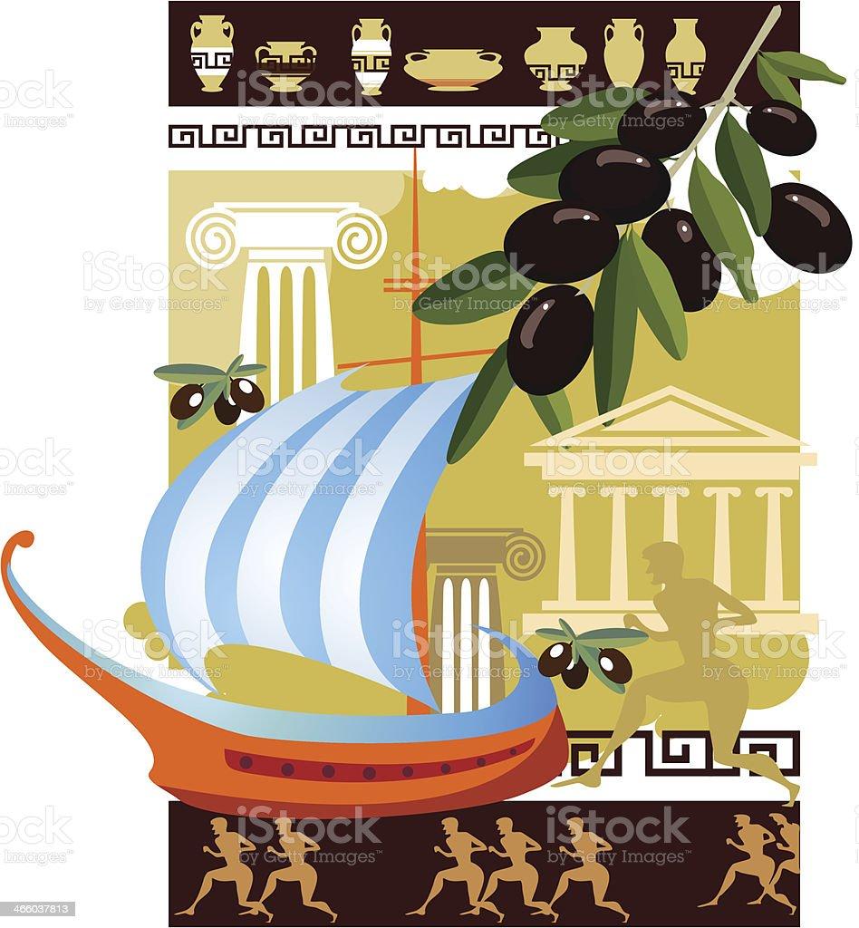 Ancient Greece royalty-free stock vector art
