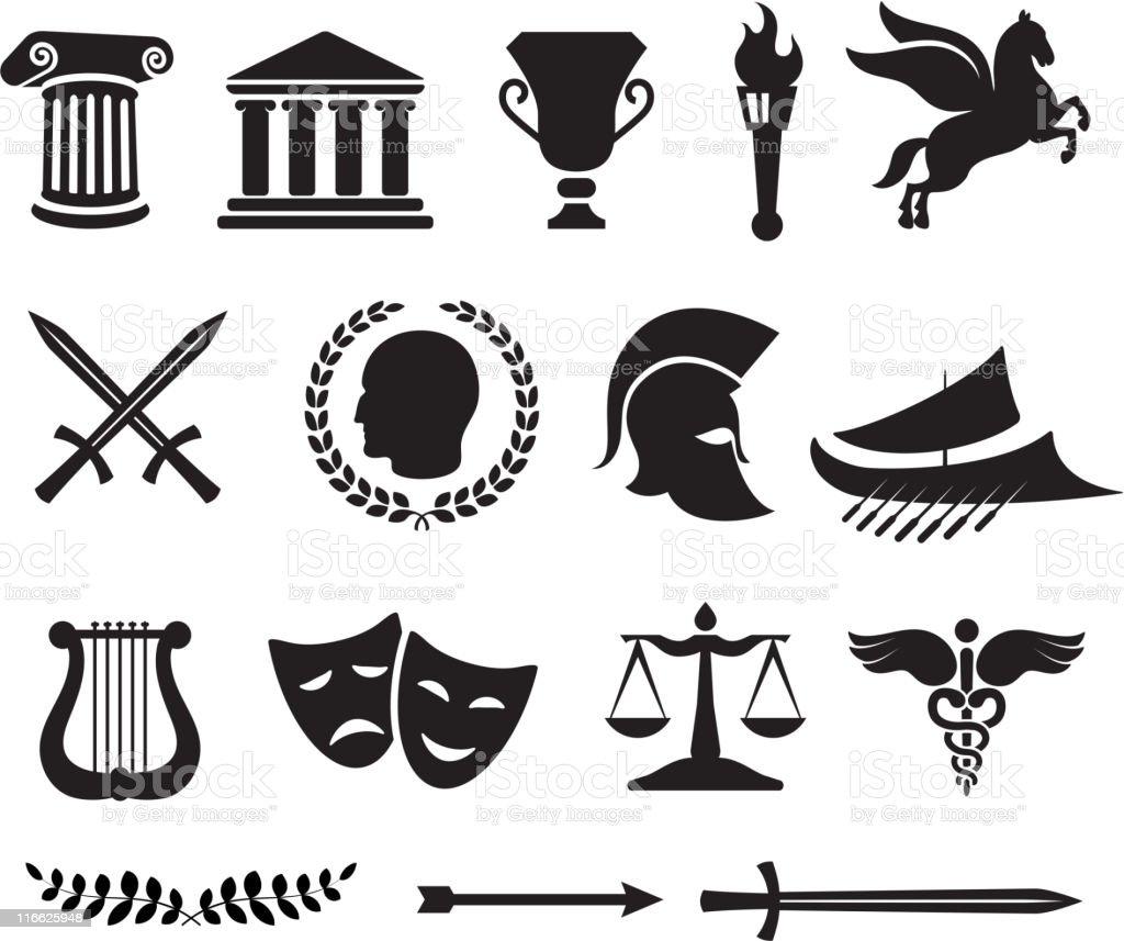 Ancient Greek royalty free vector illustration vector art illustration