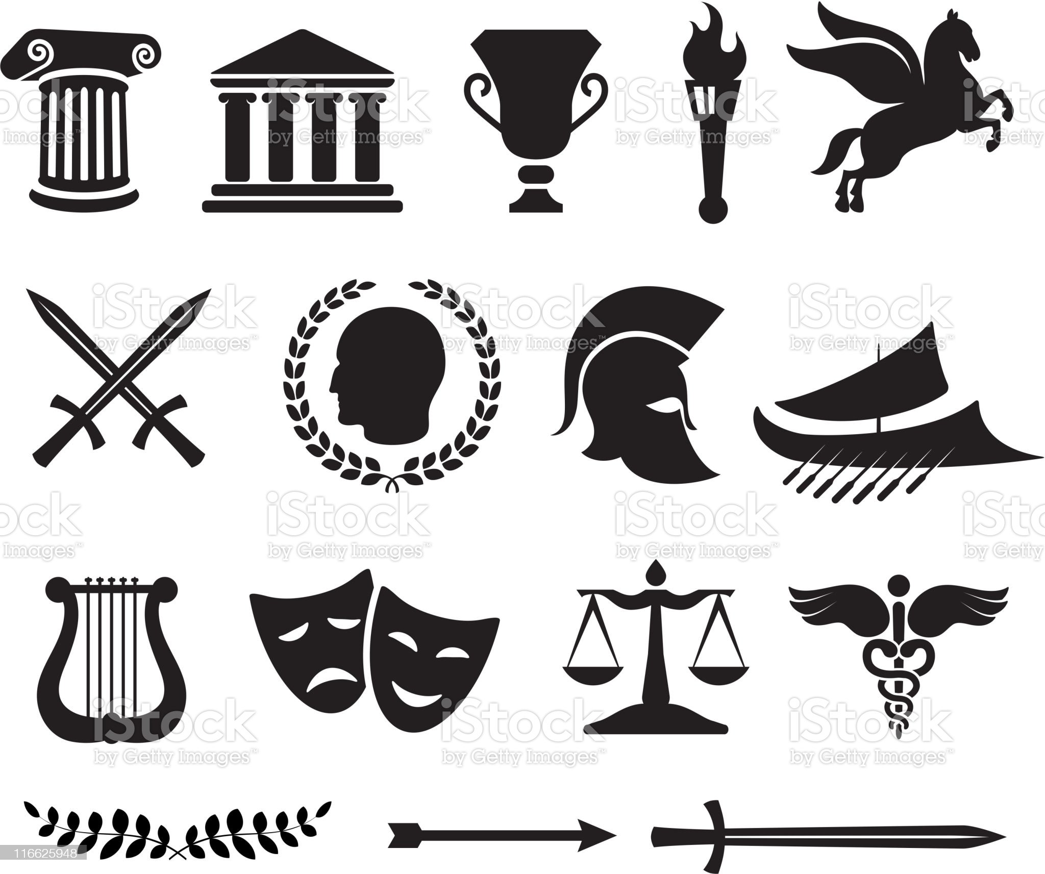 Ancient Greek royalty free vector illustration royalty-free stock vector art