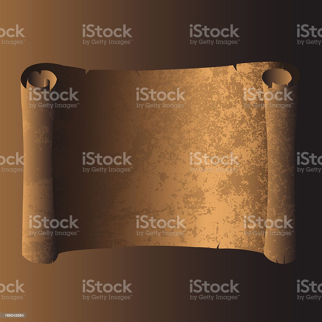 Ancient grunge scroll royalty-free stock vector art