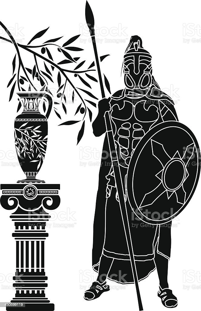 ancient hellenic man royalty-free stock vector art
