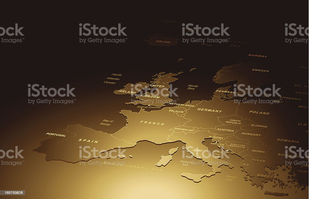 Ancient Map Of Europe royalty-free stock vector art