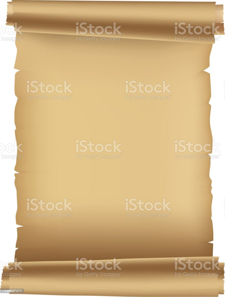 Ancient scroll royalty-free stock vector art