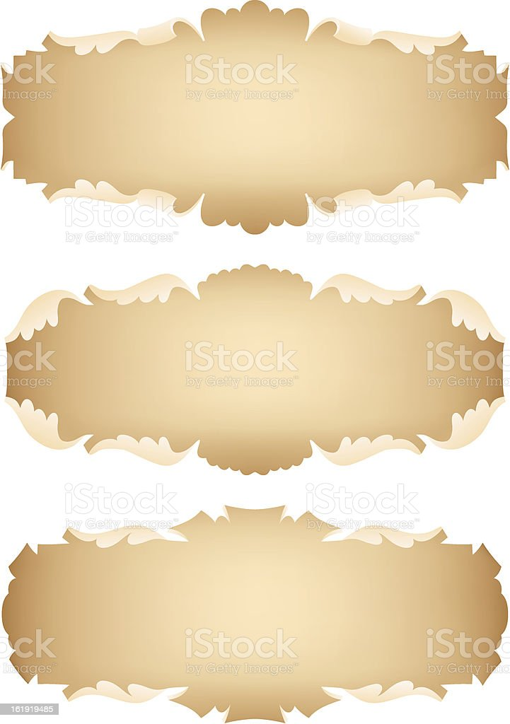 Ancient scrolls set royalty-free stock vector art