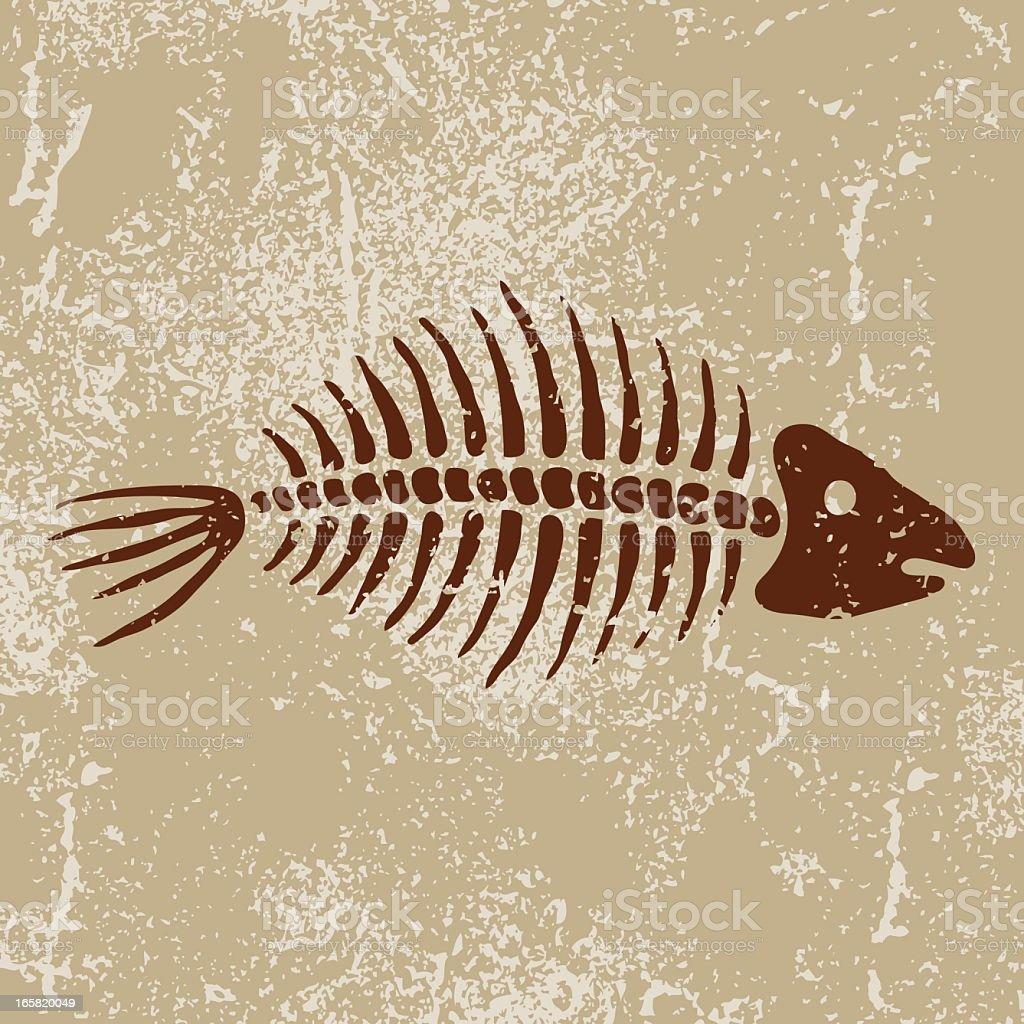 Ancient Symbols: Fish Bones royalty-free stock vector art