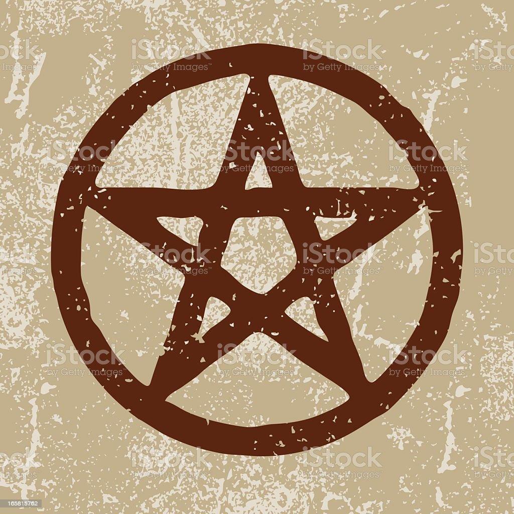 Ancient Symbols: Pentagram royalty-free stock vector art