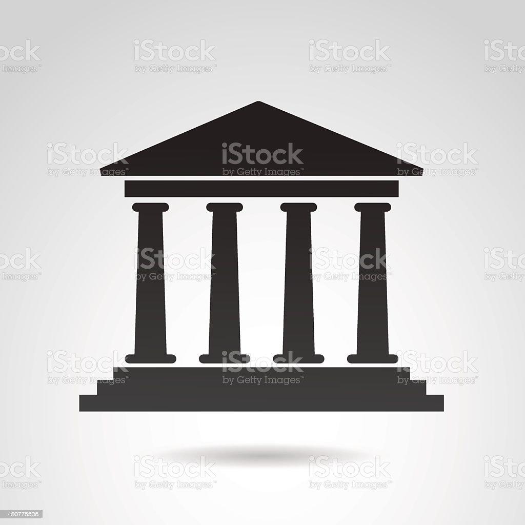 Ancient temple icon. vector art illustration