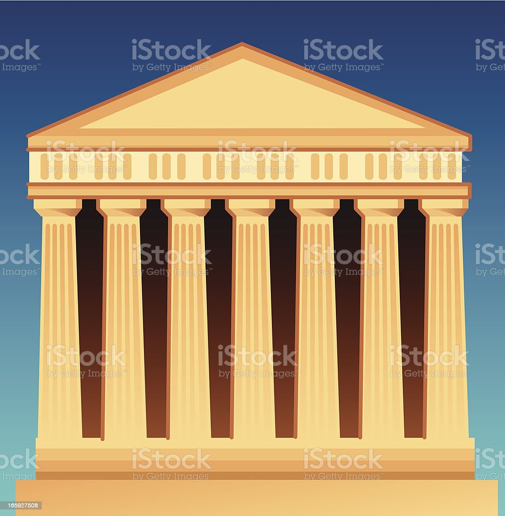 Ancient Temple royalty-free stock vector art