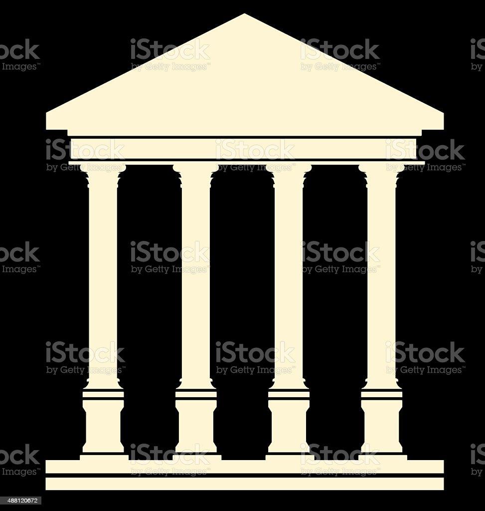 Ancient Temple vector art illustration