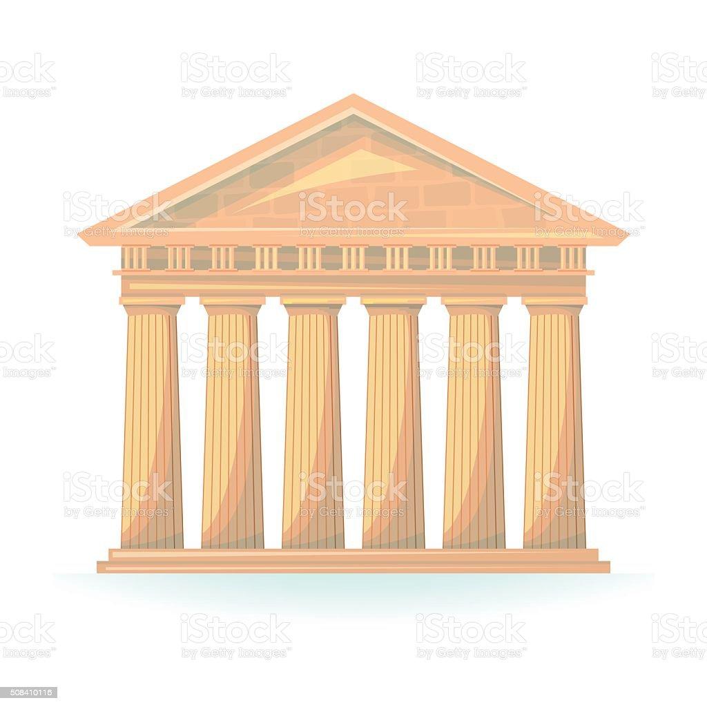 Ancient Temple vector illustration vector art illustration