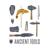 Ancient tools set for game design