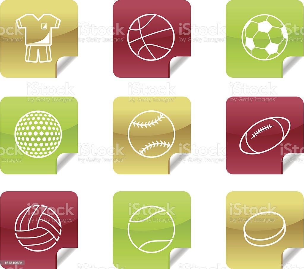 Sports Balls - Web 2.0 and Blog Icons #8 vector art illustration