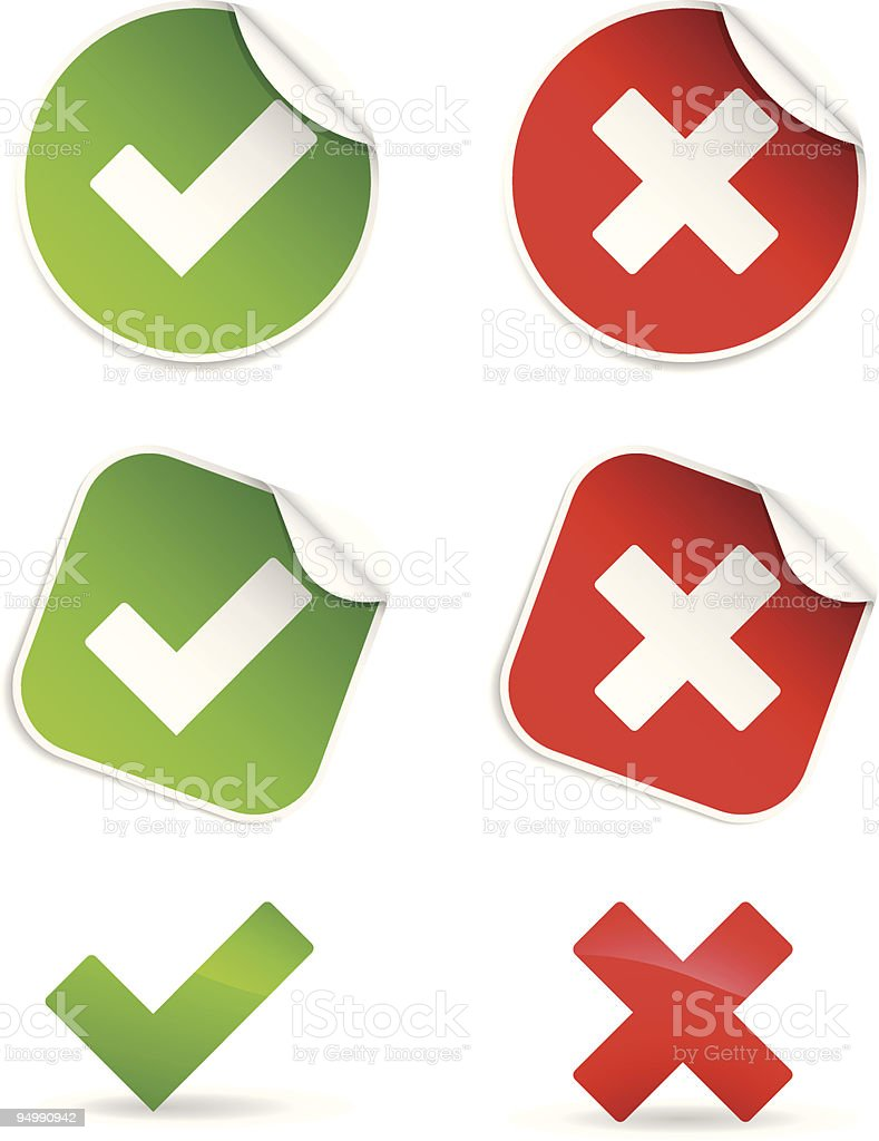 OK and Cancel labels royalty-free stock vector art