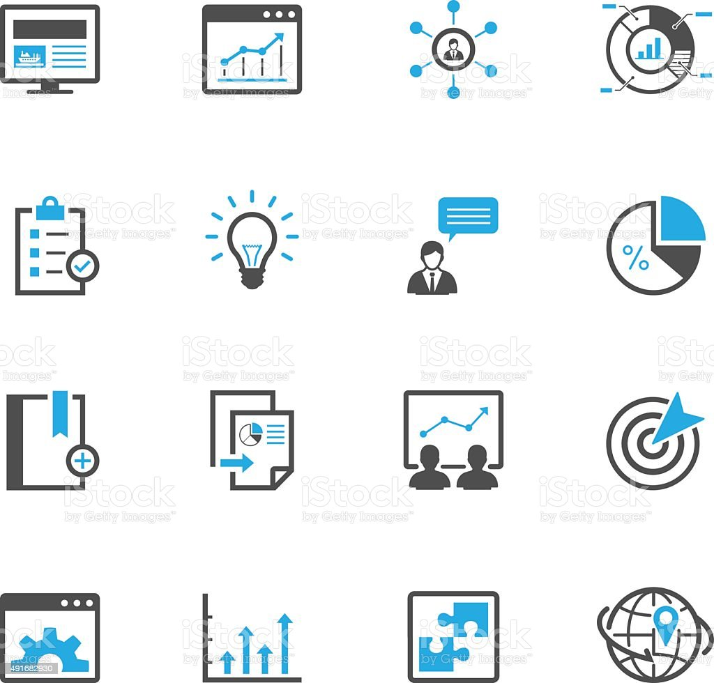 SEO and Development Icons vector art illustration