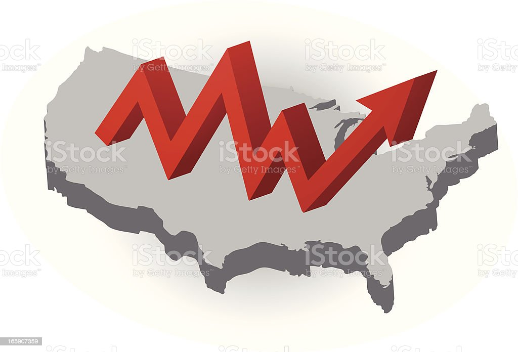 USA and growth symbol royalty-free stock vector art