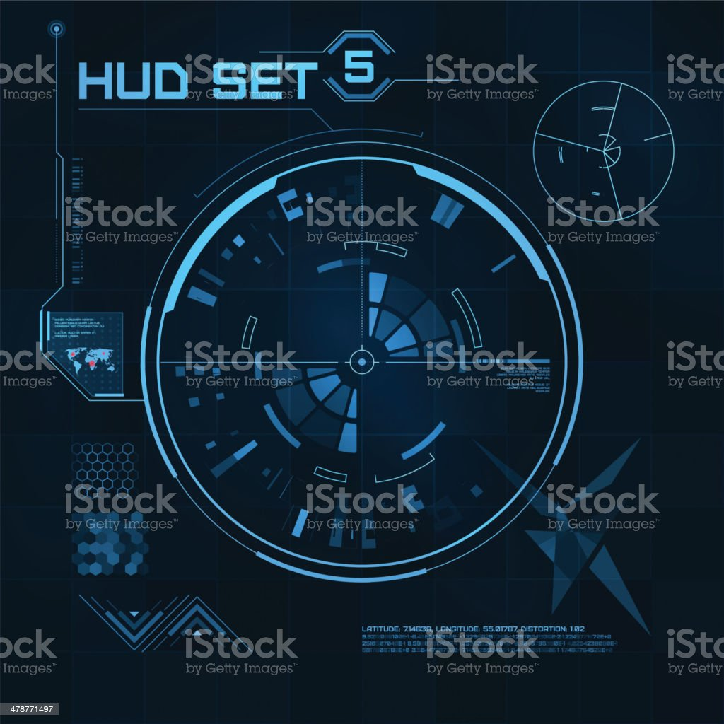 HUD and GUI set. Futuristic User Interface. royalty-free stock vector art