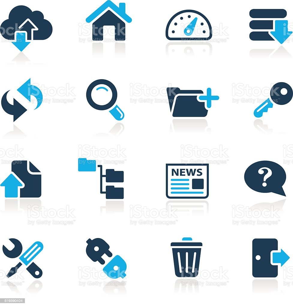 FTP and Hosting Icons // Azure Series vector art illustration