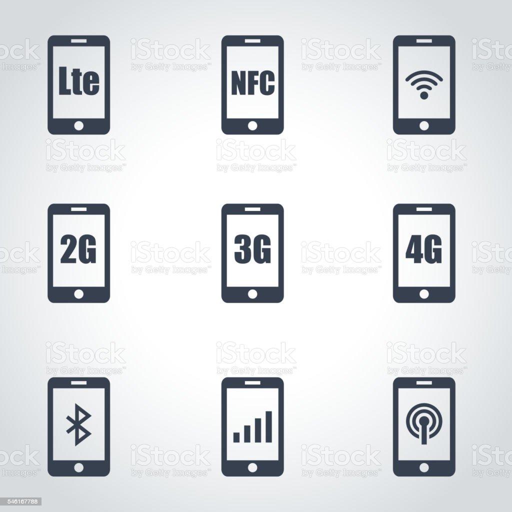 3G, 4G and LTE technology vector art illustration