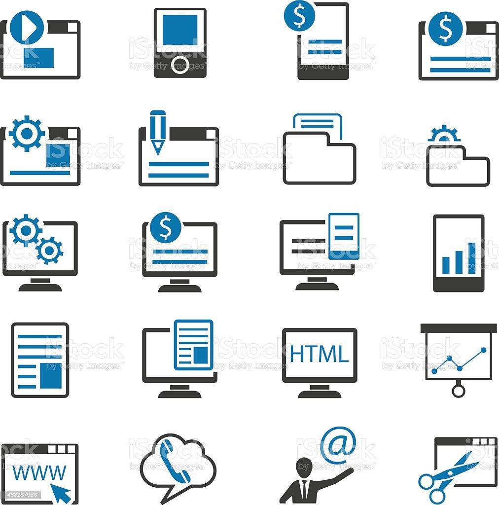 SEO and Marketing icons vector art illustration