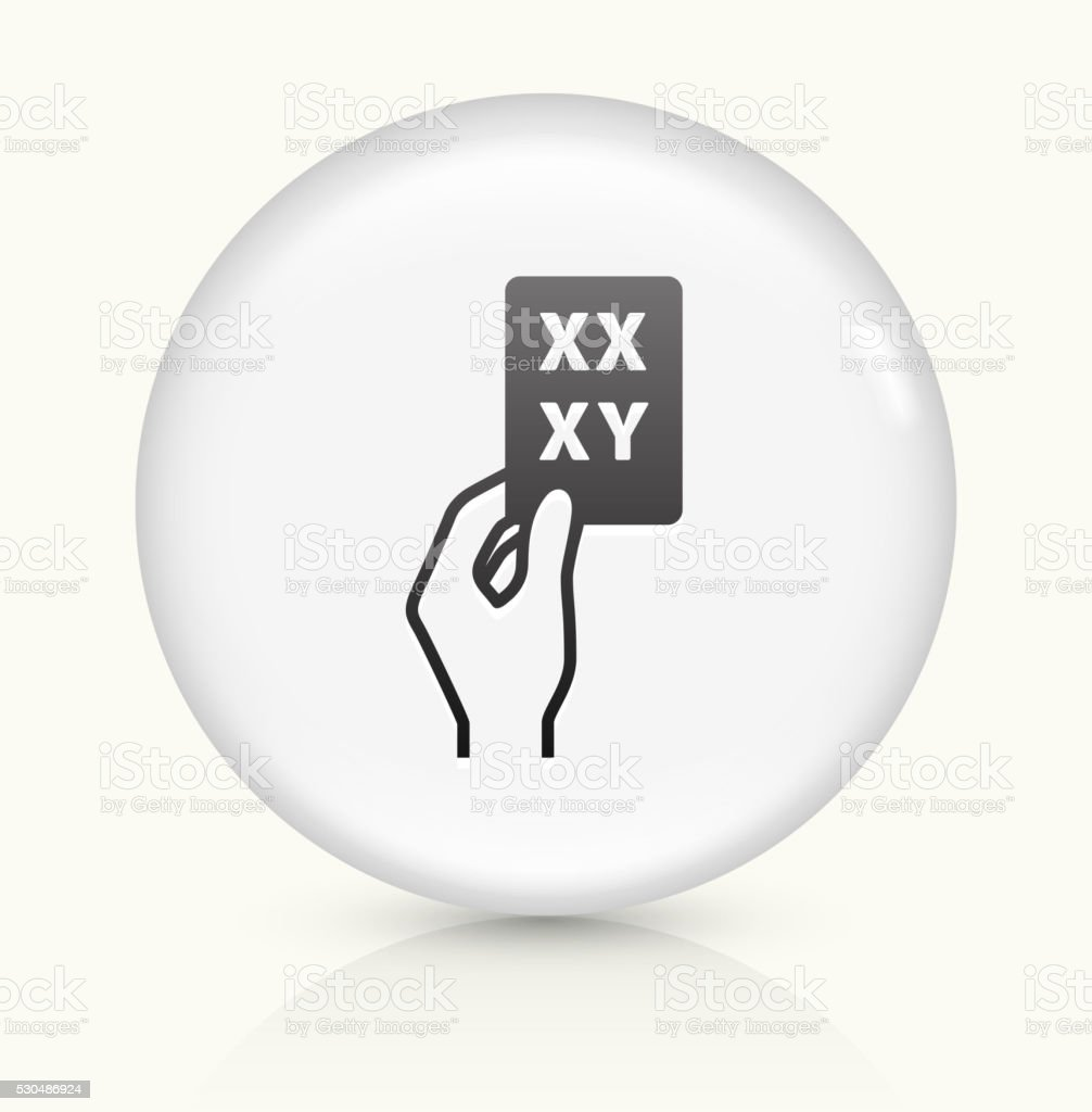XY and XX Genes icon on white round vector button vector art illustration