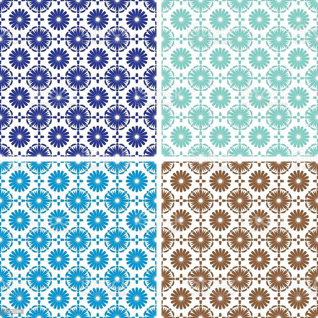 Andalusian Spanish, Moorish tiles vector art illustration