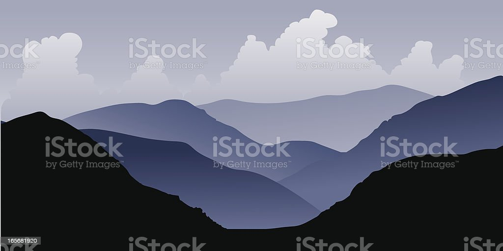 Andean Foothills, Argentina royalty-free stock vector art