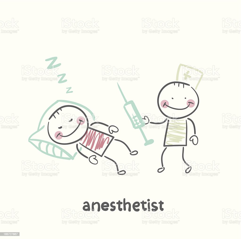 anesthesiologist with syringe royalty-free stock vector art