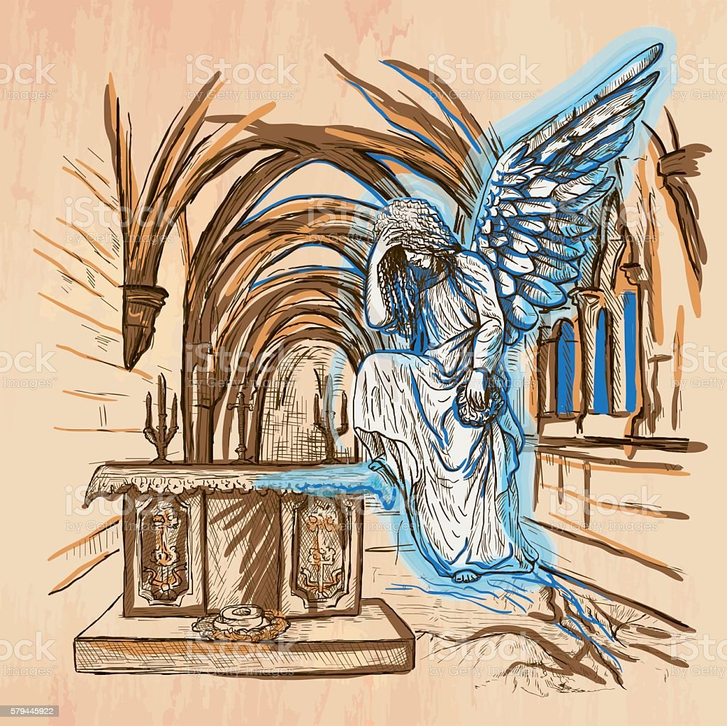 Angel - An hand drawn vector vector art illustration