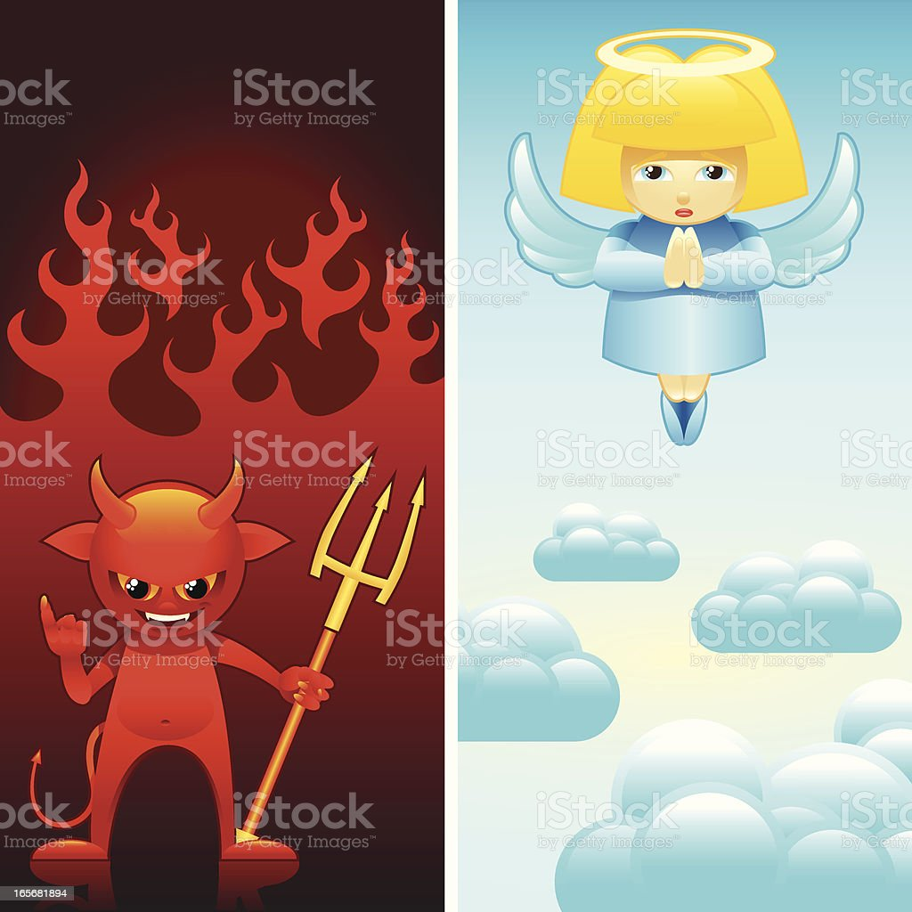 angel and devil royalty-free stock vector art